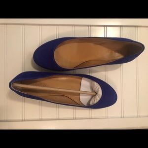 J. Crew suede small heel flats - 7.5 - NIB!